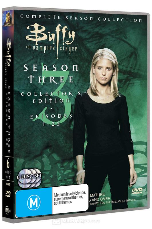 Buffy - The Vampire Slayer: Season 3 (6 Disc Set) on DVD