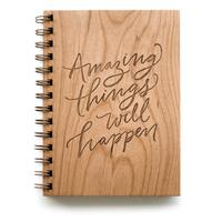 Cardtorial Wooden Journal - Amazing Things Will Happen