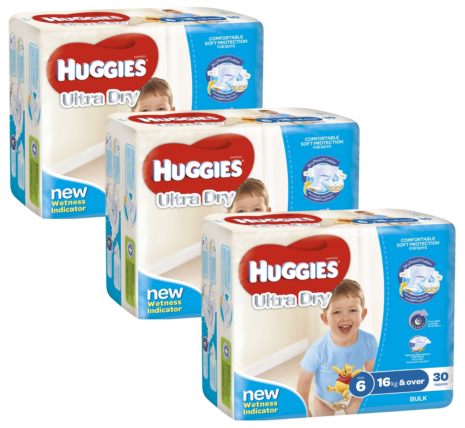 Huggies Ultra Dry Nappies Bulk Shipper - Junior Boy 16+kg (90) image