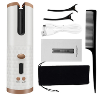 Wireless Auto-Rotating Ceramic Hair Curler - White