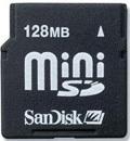 SanDisk 128MB miniSD Memory Card