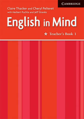 English in Mind 1 Teacher's Book Middle Eastern Edition by Claire Thacker image