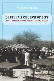 Death in a Church of Life by Frederick Klaits image