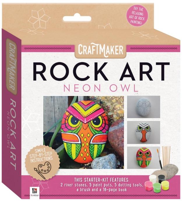 Craftmaker: Rock Art - Neon Owl