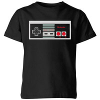 Nintendo NES Controller Chest Kids' T-Shirt - Black - 3-4 Years image