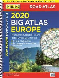 Philip's Big Road Atlas Europe: Spiral A3 by Philip's Maps