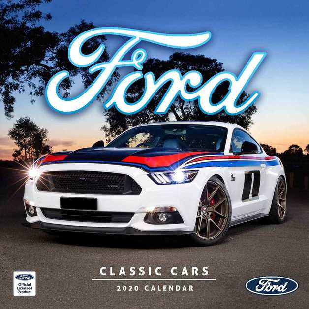 Classic Ford Cars 2020 Square Wall Calendar