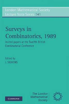 Surveys in Combinatorics, 1989 image