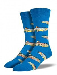 Mens Trout Socks - Blue