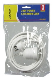 Jackson Standard Power Extension Cord (3M)