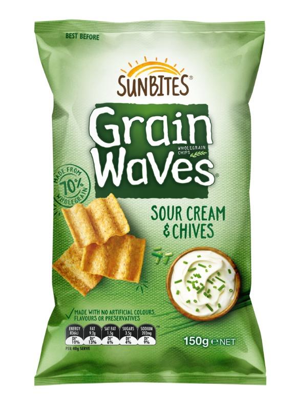 Sunbites Grain Waves - Sour Cream & Chives (150g)