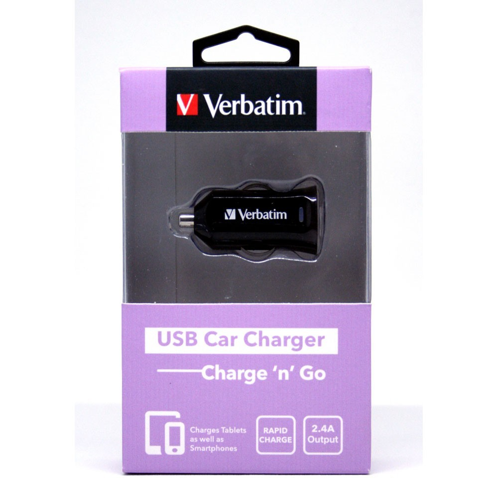 Verbatim On-The-Go USB Car Charger 2.4A (Black) image