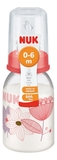NUK: Classic Polypropylene Bottle With Size 1 Teat (110ml) - Pink Flowers