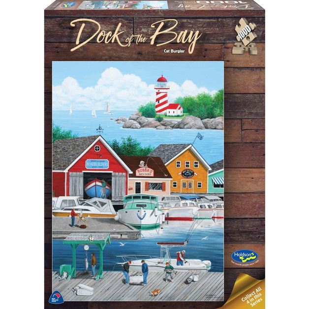 Holdson: 1000 Piece Puzzle - Dock Of The Bay (Cat Burglar)