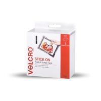 VELCRO Brand Hook & Loop Strip 19mm x 1.8m White