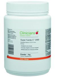 Clinicians Super Family Vitamin C 2000mg Powder (1kg) image
