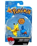 Pokémon: Action Pose Mudkip vs. Pikachu - Figure 2-Pack