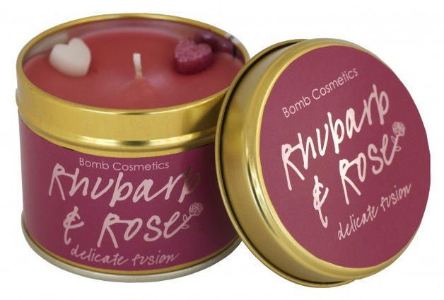 Bomb Cosmetics Candle - Rhubarb & Rose