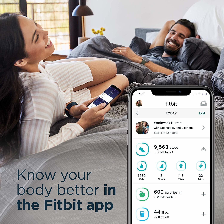 Fitbit Versa 2 Health & Fitness Smartwatch - Bordeaux/Copper Rose image