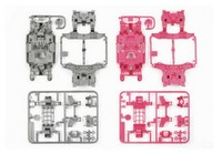 Tamiya Mini 4WD JR MS Chassis Set - Silver/Pink