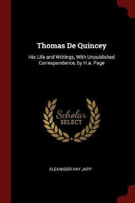 Thomas de Quincey by Alexander Hay Japp image