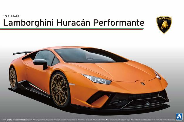 Aoshima: 1/24 Lamborghini Huracan performante - Model Kit