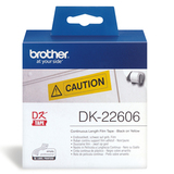 Brother DK22606 Yellow Cont Length 62MM Tape