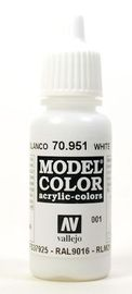 Vallejo Model Colour White Acrylic Paint 17ml