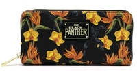 Loungefly: Black Panther - Floral Zip-Around Wallet