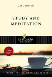Study and Meditation by Jan Johnson