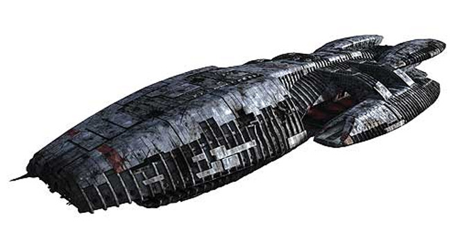 Battlestar Galactica 1:4105 Scale Model Kit - by Moebius image