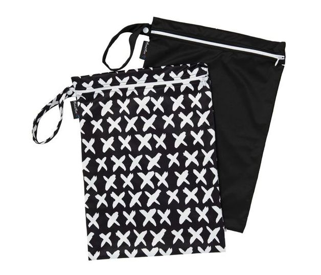 Mum 2 Mum: Wet Bag - Cross / Black (2 Pack)