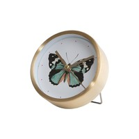 Curios Butterfly Table Clock
