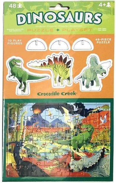 Crocodile Creek: Pop-Out Puzzle & Playset - Dinosaurs image