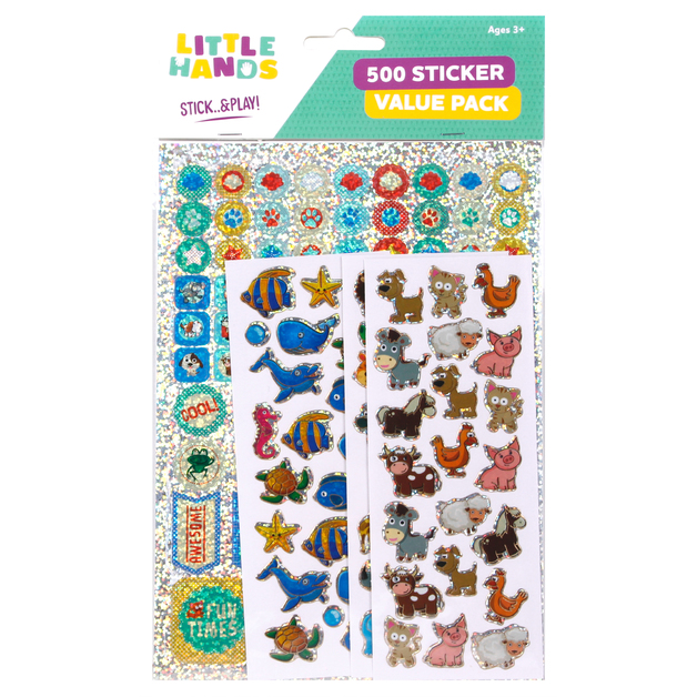 Little Hands: 500 Sticker Pack - Animals (Assorted Designs)