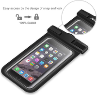 Waterproof Pouch Cellphone Dry Bag - Black