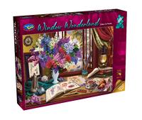 Holdson: 1000 Piece Puzzle - Window Wonderland (Lilacs & Swans)