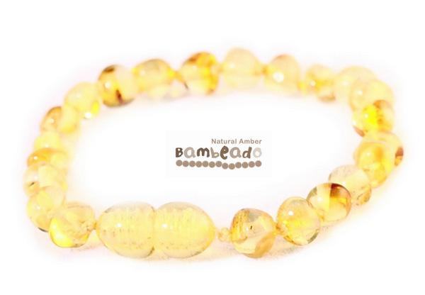 Bambeado Amber Bracelet Baby Bud - Lemon image