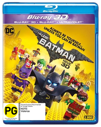 The Lego Batman Movie on Blu-ray, 3D Blu-ray