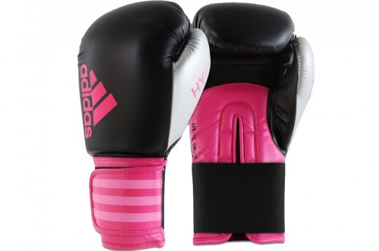 Adidas Hybrid Boxing Gloves 14oz (Black/Pink/Silver)