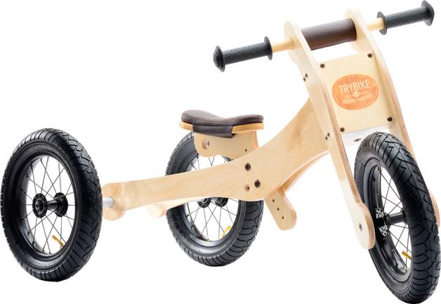 Trybike: 4-in-1 Wooden Balance Bike