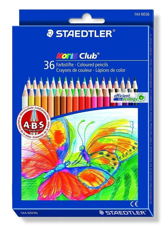 Staedtler - Noris Club Coloured Pencils - Pack of 36