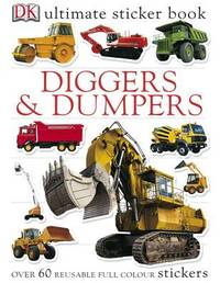 Diggers & Dumpers Ultimate Sticker Book by DK image