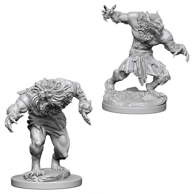 D&D Nolzur's Marvelous: Unpainted Miniatures - Werewolves