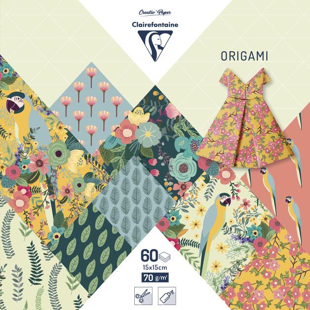 Clairefontaine: Origami 60 Sheets - 15x15cm/Kiribati