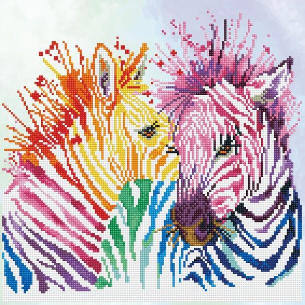 Diamond Dotz: Facet Art Kit - Rainbow Zebra (Intermediate)