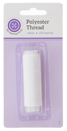 The Sewing Circle 100% Polyester Thread 100m (White)