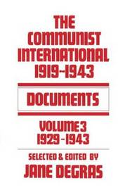 Communist International by Jane Degras image