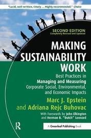 Making Sustainability Work by Marc J Epstein