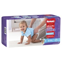 Huggies: Ultra Dry Nappy Pants - Size 4 Toddler Boy (34)